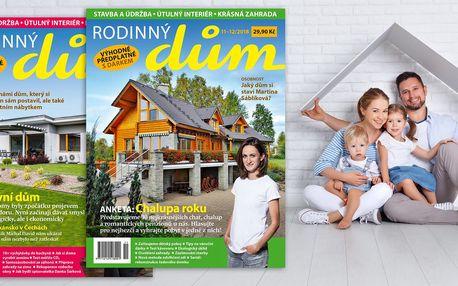Roční předplatné časopisu Rodinný dům 2019