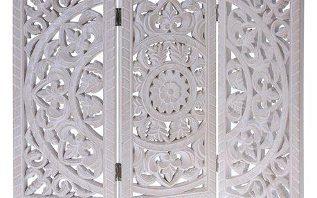 Home Styling Collection Dřevěný ozdobný panel, skládací, 60 x 45 cm - barva bílá
