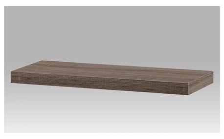 Nástěnná polička 60cm, barva tmavý sonoma dub P-001 SON2 Autronic