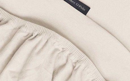 Hladké prostěradlo jersey, luxusní prostěradlo z hladkého úpletu, prostěradlo s gumičkou, exkluzivní prostěradlo, 90 x 200 cm, 100 x 220 cm, Marc O'Polo - 180/200 x 200/22