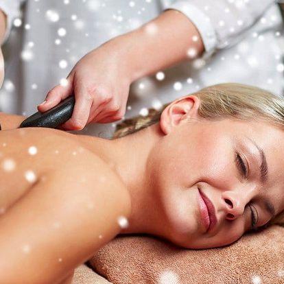 Masáž dle výběru i celotělová masáž lávovými kameny