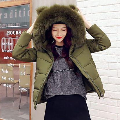 Zimní bunda s umělým kožíškem Cara - 5 barev