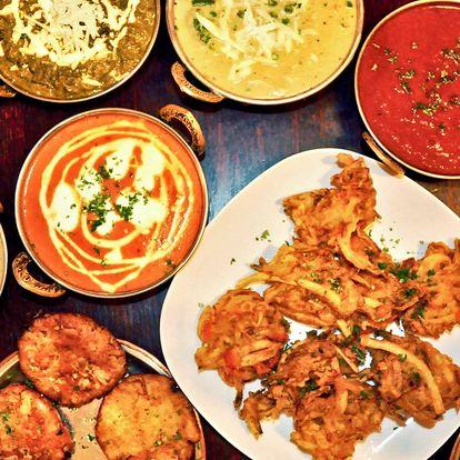 Autentické indické menu vč. lassi pro 2 nebo 4