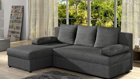 Rohová sedačka GINO 01, tmavě šedá látka