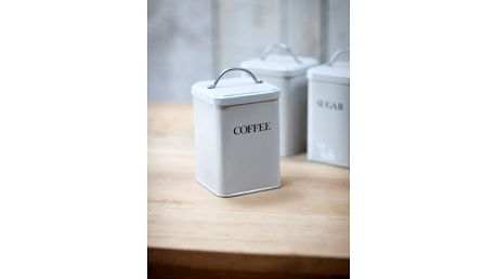 Garden Trading Plechová dóza Coffee Chalk, šedá barva, kov