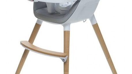 BRITTON Jídelní židlička Fika – světle šedá