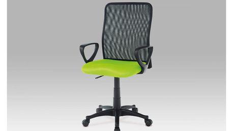 Kancelářská židle, látka MESH zelená / černá, plyn.píst KA-B047 GRN Autronic