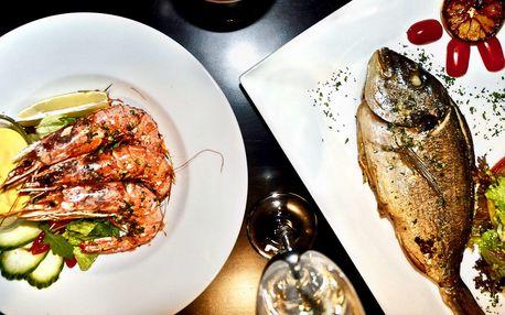 Degustační menu s krevetami a pražmou pro 2