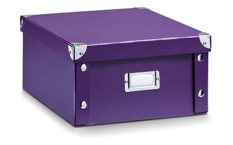 Box pro skladování, 31x26x14 cm, barva fialová, ZELLER