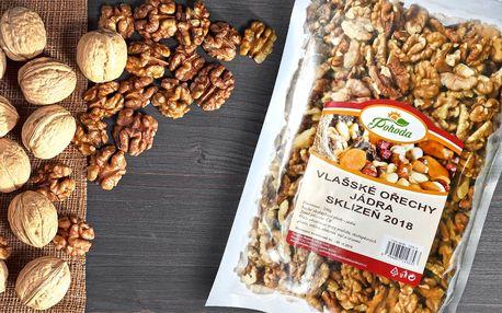 Vlašské ořechy na zobání i pečení: sklizeň 2018