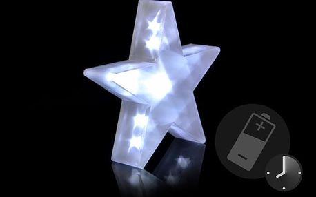 Nexos 29216 Vánoční dekorace - Světelná hvězda - 20 LED, 35 cm