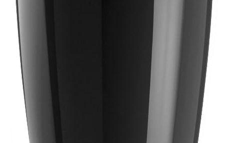 Kancelářský odpadkový koš DEL XL, 30 l - barva černá, KOZIOL