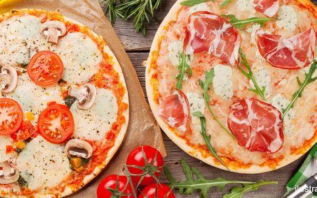 Jedna nebo dvě křupavé pizzy podle výběru