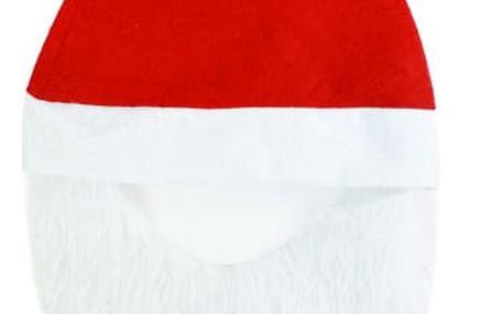 Vánoční čepice s vousy