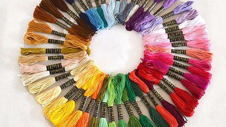 Sada 50 vyšívacích bavlnek