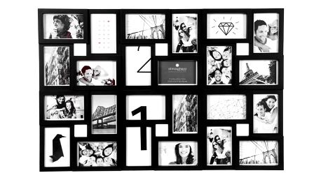 Atmosphera Créateur d'intérieur Rámeček pro 24 fotky, fotorámeček, rámeček na fotky - mini galerie na fotky, barva černá
