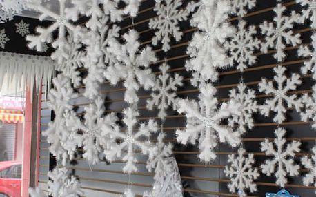 Vánoční dekorace - vločka - 30 kusů
