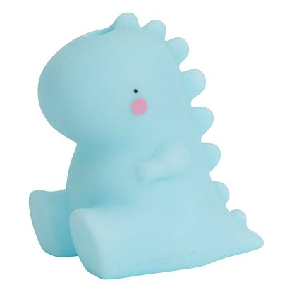 A Little Lovely Company Hračka do vany T-rex, modrá barva, plast