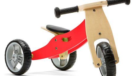 NICKO Dřevěné odrážedlo 2v1 mini - červené