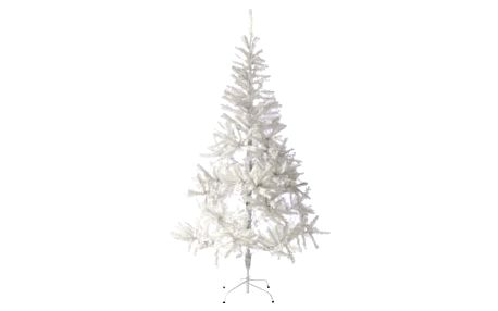 Nexos 32994 Umělý vánoční strom s třpytivým efektem - 180 cm, bílý