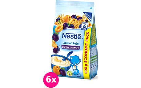 6x NESTLÉ Mléčná kaše švestka-meruňka (300 g)