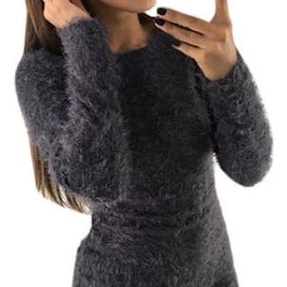 Dámský chlupatý svetr