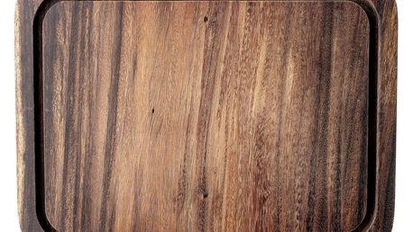 Bloomingville Dřevěné prkénko Acacia Brown 30x40 cm, hnědá barva, přírodní barva, dřevo