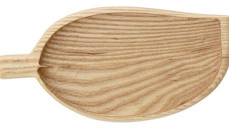 Bloomingville Dřevěný tácek Leaf Ash, přírodní barva, dřevo