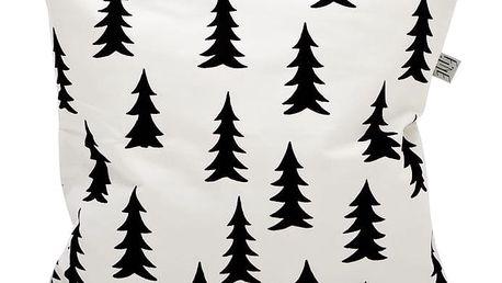 Fine Little Day Povlak na polštář Gran black 48x48, černá barva, bílá barva, textil