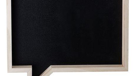 Bloomingville Dětská tabule v rámu Comics, černá barva, dřevo, dřevotříska