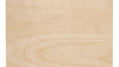 Bloomingville Psací podložka se skřipcem Clipboard Wood, hnědá barva, dřevo, kov