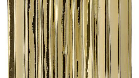 Bloomingville Porcelánová váza Gold Fluted, zlatá barva, porcelán
