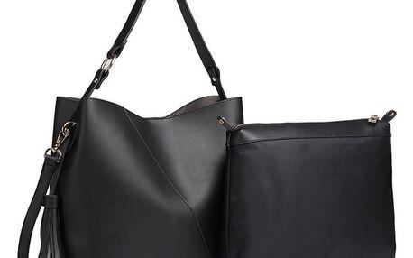 SET: Dámská černá kabelka Effy 6862