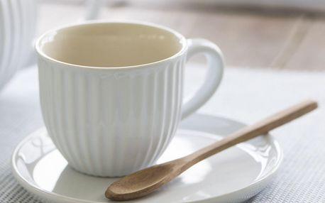IB LAURSEN Šálek s podšálkem Mynte Pure White 135 ml, bílá barva, keramika
