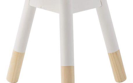 Bloomingville Dětská stolička Off White, bílá barva, hnědá barva, dřevo