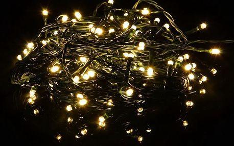 Vánoční světelný LED řetěz - teple bílá - 80 LED 8 m - OEM D40805