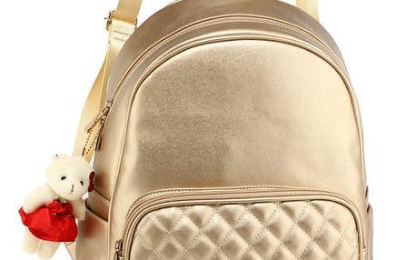 Dámský zlatý batoh Edie 674