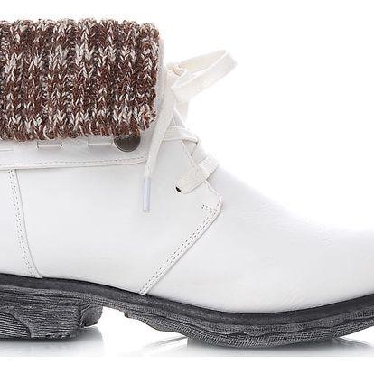 Ctogo GOGO Bílé kotníkové boty 2077WH Velikost: 39 (25.5 cm)
