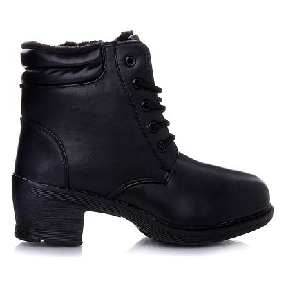 KOKA Shoes fashion Černé kotníkové boty 181-2B Velikost: 39 (24,5 cm)