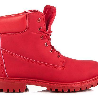 CNB Červené zimní farmářky 35-188RO Velikost: 37 (24.5 cm)