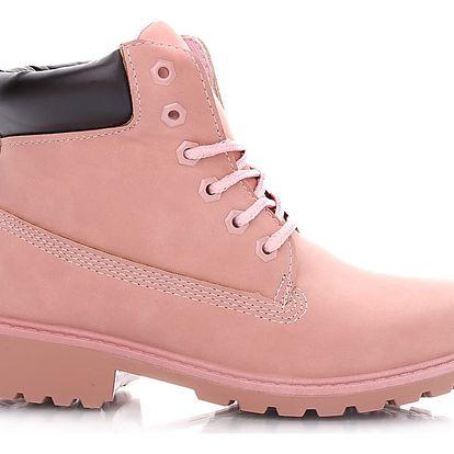 Sboty Růžové jarní workery E35PI Velikost: 39 (25 cm)