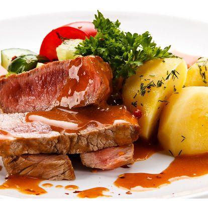 Steak dle výběru s vyladěnou přílohou pro 1 nebo 2