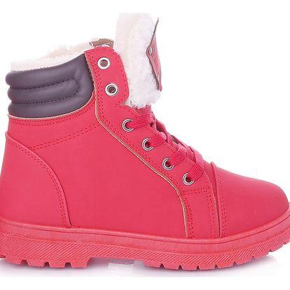 Cabin Červené dámské zimní boty RA1011R Velikost: 39 (25 cm)