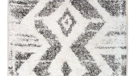HK living Bavlněný kobereček ZigZag, černá barva, textil