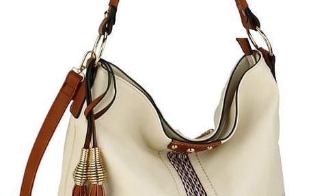 Dámská krémová kabelka Karina 624