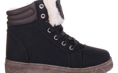Cabin Černé dámské zimní boty RA1011B Velikost: 37 (24 cm)