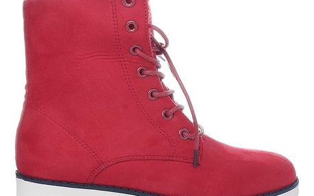 Ctogo GOGO Červené kotníkové boty 6207-3R Velikost: 37 (24 cm)