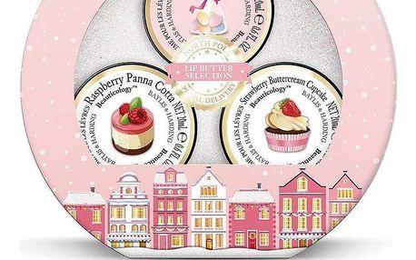 Baylis & Harding Vánoční dárková sada balzámů na rty - Beauticology Pink, růžová barva