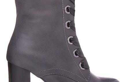 Desun Kotníkové boty na podpatku SW6207G Velikost: 39 (25,5 cm)
