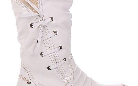 Super in Dámské bílé kozačky 4683WH Velikost: 39 (25,5 cm)